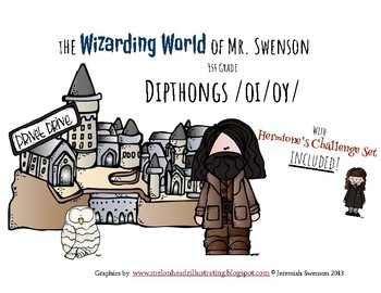 Harry Potter Themed Classroom - Grade 1 - Dipthongs /oi/oy/ Phonics Card Game