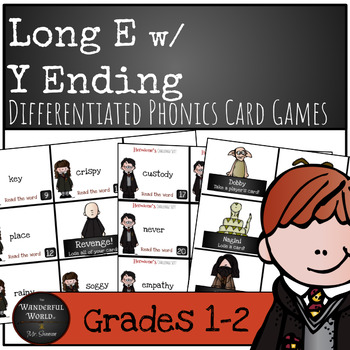 Harry Potter Themed Classroom - Grade 1 - Long E w/ y-ending Phonics Card Game