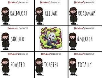 Harry Potter Themed Classroom - Grade 1 - Long O /o/oa/ow/ Phonics Card Game