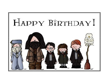 Harry Potter Themed Classroom - Happy Birthday Poster
