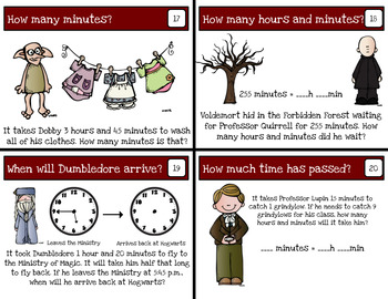 Harry Potter Themed Classroom - Hermione's Time Telling Logic Puzzles