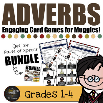 Harry Potter Themed Classroom -  Adverbs Card Game Bundle