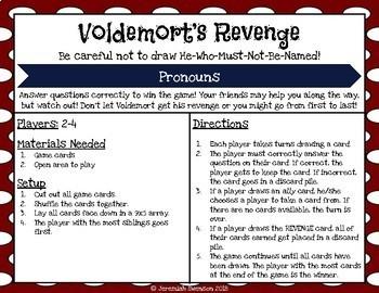 Harry Potter Themed Classroom -  Pronouns Card Game Bundle