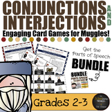 Harry Potter Themed Classroom -  Conjunction & Interjection Card Game Bundle