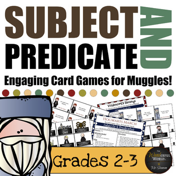Harry Potter Themed Classroom -  Hogwarts March - Subject & Predicate Board Game