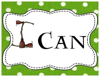 """Harry Potter Themed Classroom - """"I Can"""" Statement Banner + Cards"""