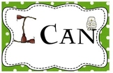 "Harry Potter Themed Classroom - ""I Can"" Statement Banner + Cards"