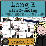 Harry Potter Themed Classroom - Long E w/ Y-ending Phonics Card Games