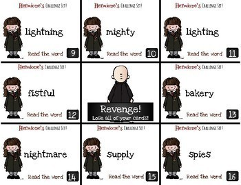 Harry Potter Themed Classroom - Long I /i/igh/ie/y/ Phonics Card Game