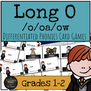 Harry Potter Themed Classroom - Long O /o/oa/ow/ Phonics Card Games