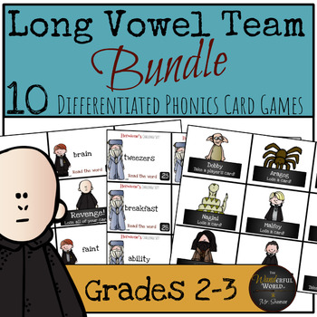 Harry Potter Themed Classroom - Long Vowel Team Bundle