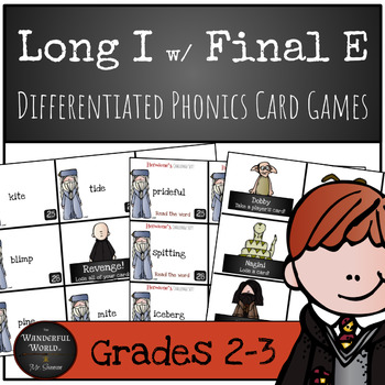 Harry Potter Themed Classroom - Long i with Final E  Card Game