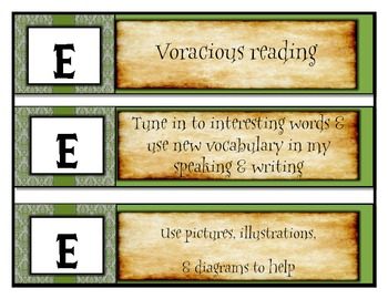 Harry Potter Themed Classroom - Menu Cards for use with Daily 5 and CAFE