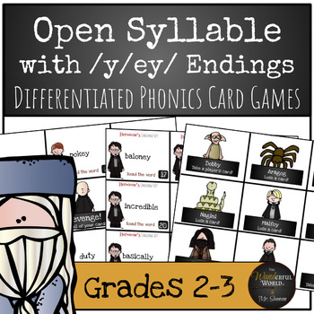 Harry Potter Themed Classroom - Open Syllable words with /