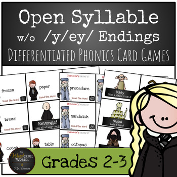 Harry Potter Themed Classroom - Open Syllable words withou