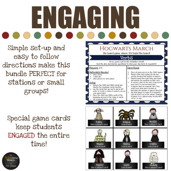 Harry Potter Themed Classroom - Parts of Speech Card Game Mega Bundle