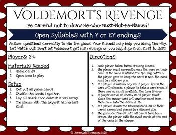 Harry Potter Themed Classroom - Phonics Card Games - Syllable Bundle