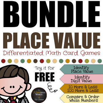 Harry Potter Themed Classroom - Differentiated Place Value Card Game Bundle