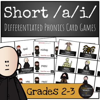 Harry Potter Themed Classroom - Short /a/i/ Differentiated Phonics Card Game