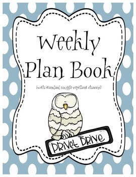 Harry Potter Themed Classroom - Printable Plan Book