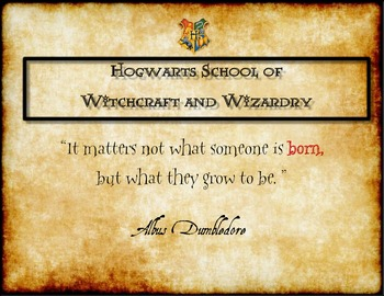 Harry Potter Themed Classroom - Quotes Poster Pack
