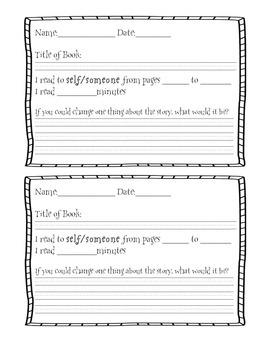 Harry Potter Themed Classroom - Reading Response Logs