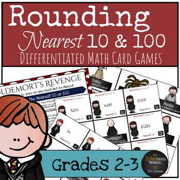 Harry Potter Themed Classroom - Rounding Card Game