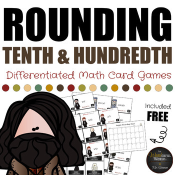 Harry Potter Themed Classroom - Rounding to the Tenth & Hundredth Card Game