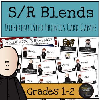Harry Potter Themed Classroom - S/R Phonics Card Games