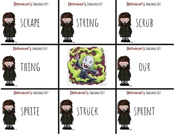 Harry Potter Themed Classroom - Grade 1 - S and R Consonant Blends Card Game