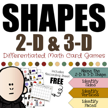 Harry Potter Themed Classroom - Shapes Differentiated Card Game