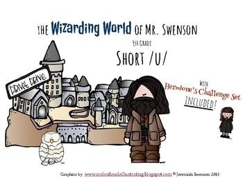 Harry Potter Themed Classroom - Grade 1 - Short U Phonics Card Game