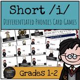 Harry Potter Themed Classroom - Short /i/ Phonics Card Games