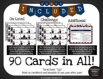 Harry Potter Themed Classroom - Short e,o.u  Card Game