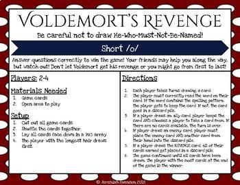 Harry Potter Themed Classroom - Short /o/ Phonics Card Games