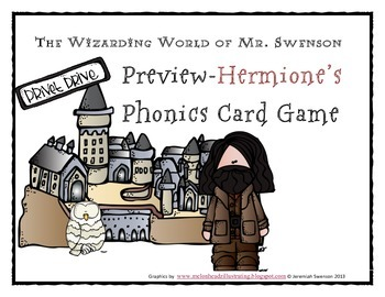 Harry Potter Themed Classroom - Unit 4 Phonics Card Games