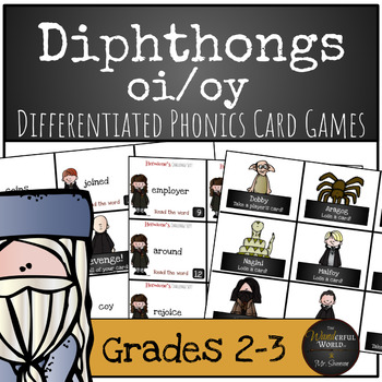 Harry Potter Themed Classroom - Voldemort's Revenge Diphthong /oi/oy/ Card Game