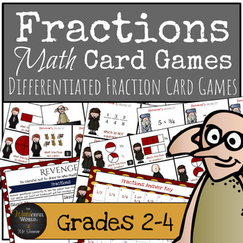 Harry Potter Themed Classroom - Voldemort's Revenge Fraction Card Game