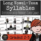 Harry Potter Themed Classroom - Long Vowel Team Syllables Phonics Card Games