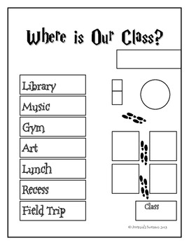 Harry Potter Themed Classroom - Where is Our Class poster