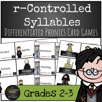 Harry Potter Themed Classroom - r-Controlled Syllables Phonics Card Games