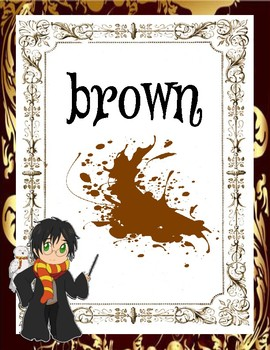 Harry Potter Themed Color Posters