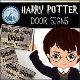 Harry Potter Door Signs
