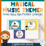 Harry Potter Themed Classroom Music Hand Sign Posters