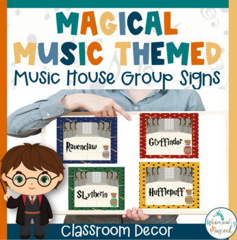 Harry Potter Themed House Group Signs