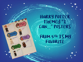 Harry Potter Themed I Can Posters