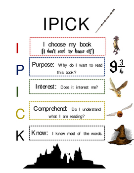 Harry Potter Themed IPICK Poster