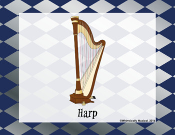 Harry Potter Themed Instrument Family Posters