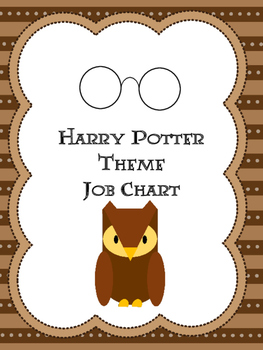 Harry Potter Themed Job Chart Pieces