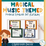 Magical Music Themed Classroom Decor   Musical Symbols Set (Editable)